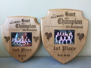 Heart of a Champion plaques